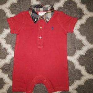 Ralph Lauren Polo Romper Unisex Size 3 Months